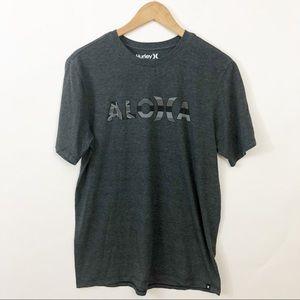 Hurley Gray Aloha T-shirt Size Medium